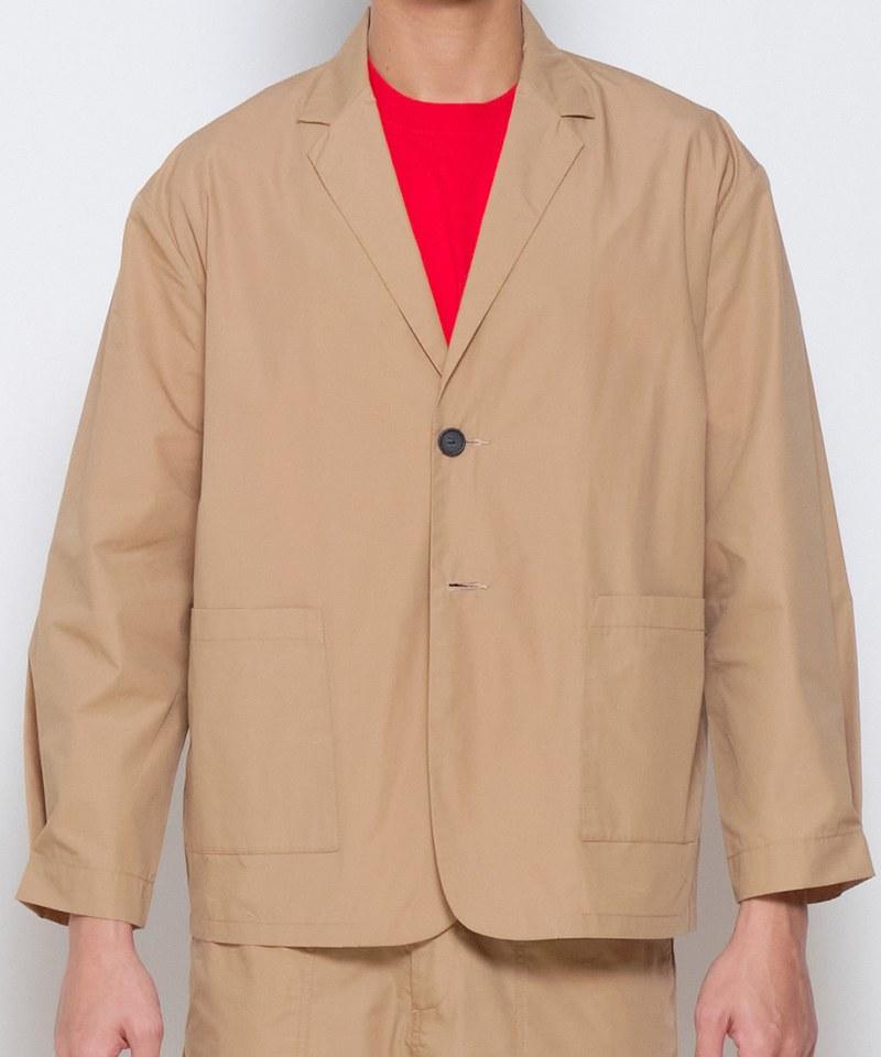 COP1198 棉混紡單排釦寬版西裝外套