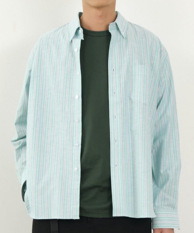 COP33140 條紋寬版牛津襯衫