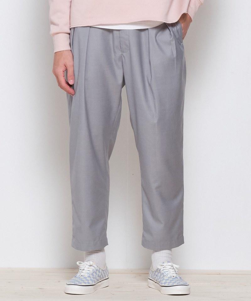 COP3578 西裝料錐形九分褲