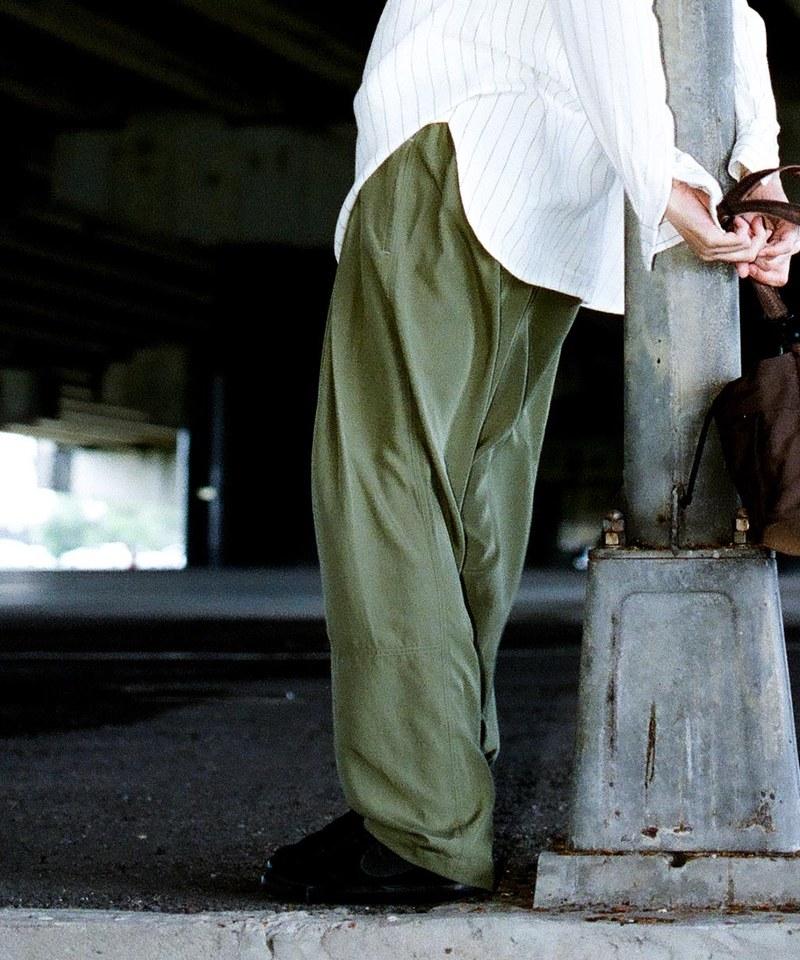 COP4063 麻混寬褶長褲