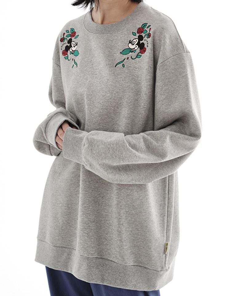 CRV0029 Mickey 花朵刺繡衛衣