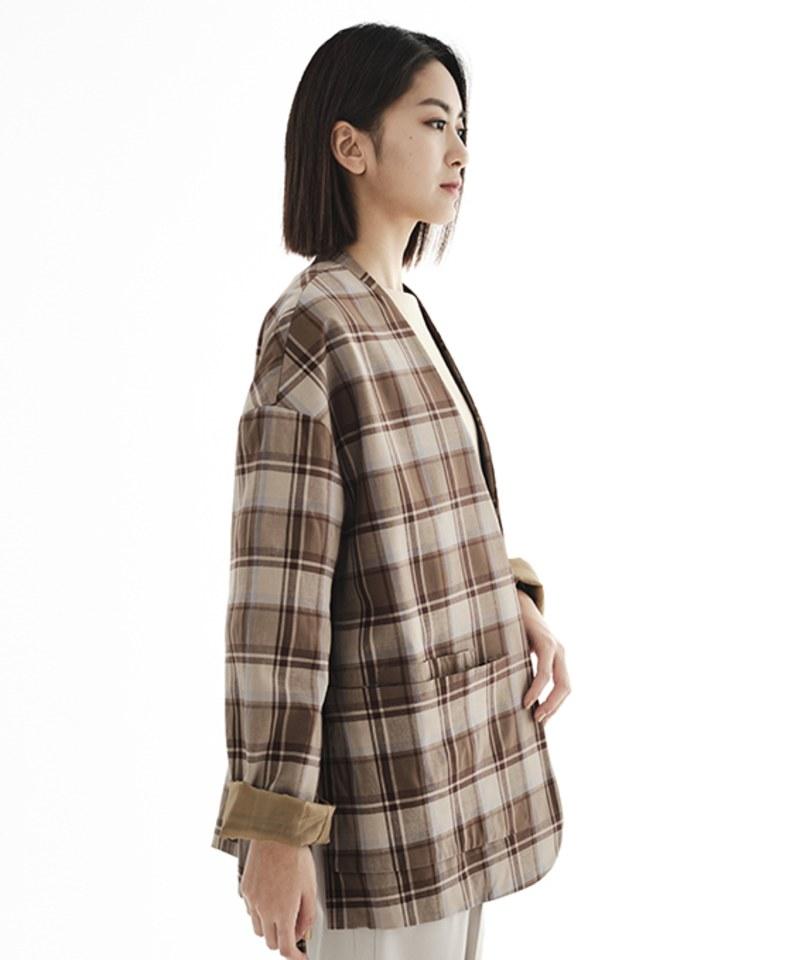 CRV1112A 陳艾琳聯名無領綁帶西裝外套