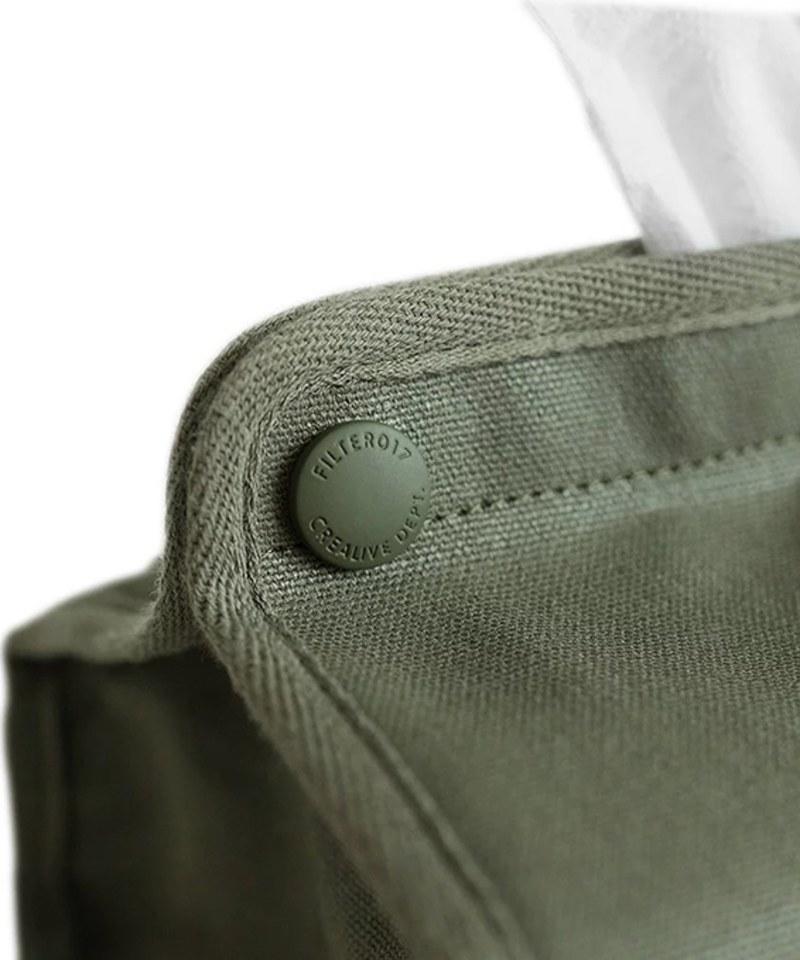 FLT3907 Mix Badger Waxed Canvas Tissue Cover 米斯獾上蠟帆布紙巾套
