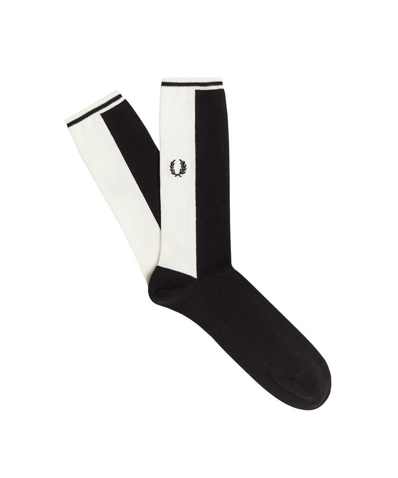 FRP99113 C1109 CONTRAST PANEL SOCKS 撞色拼接襪子