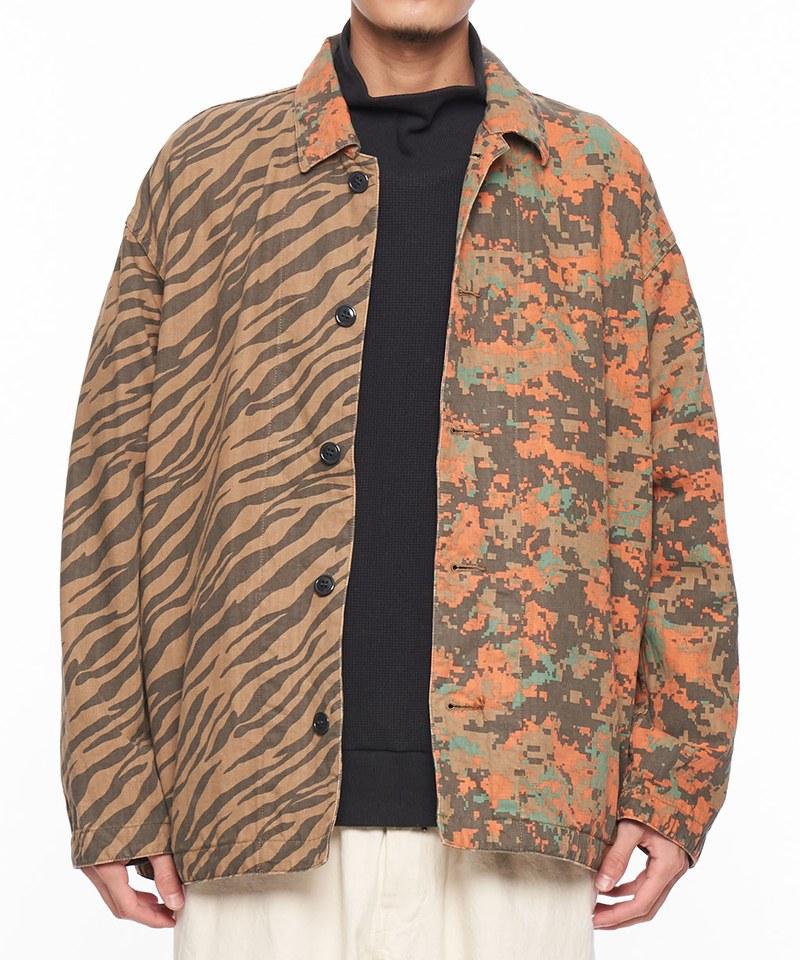 人字紋拼接迷彩外套