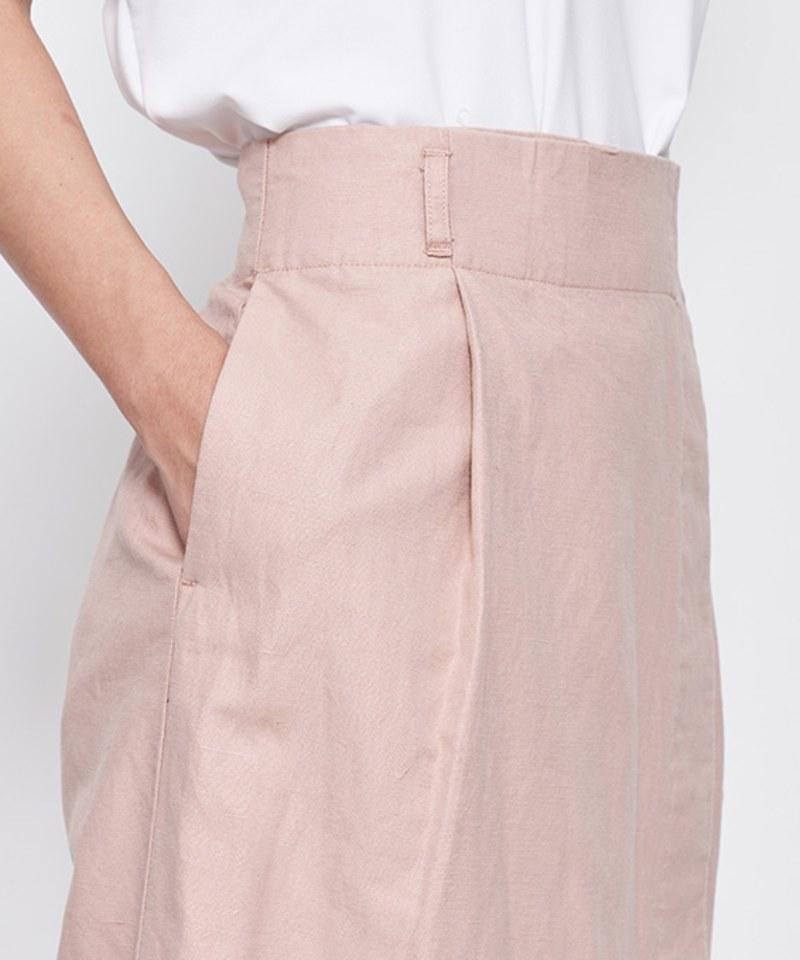 JSD4001 棉麻混紡及踝長裙