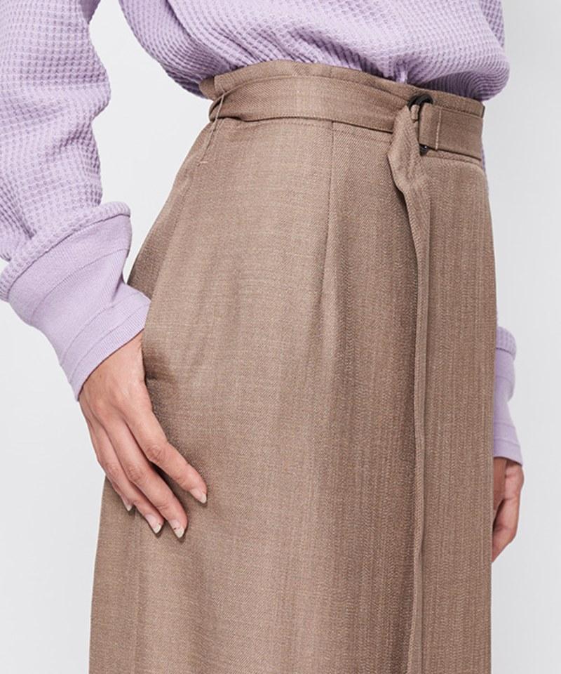 JSD4002 輕薄腰帶長裙