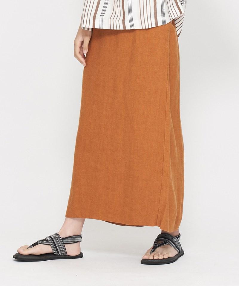 JSD4007 重磅亞麻合身長裙