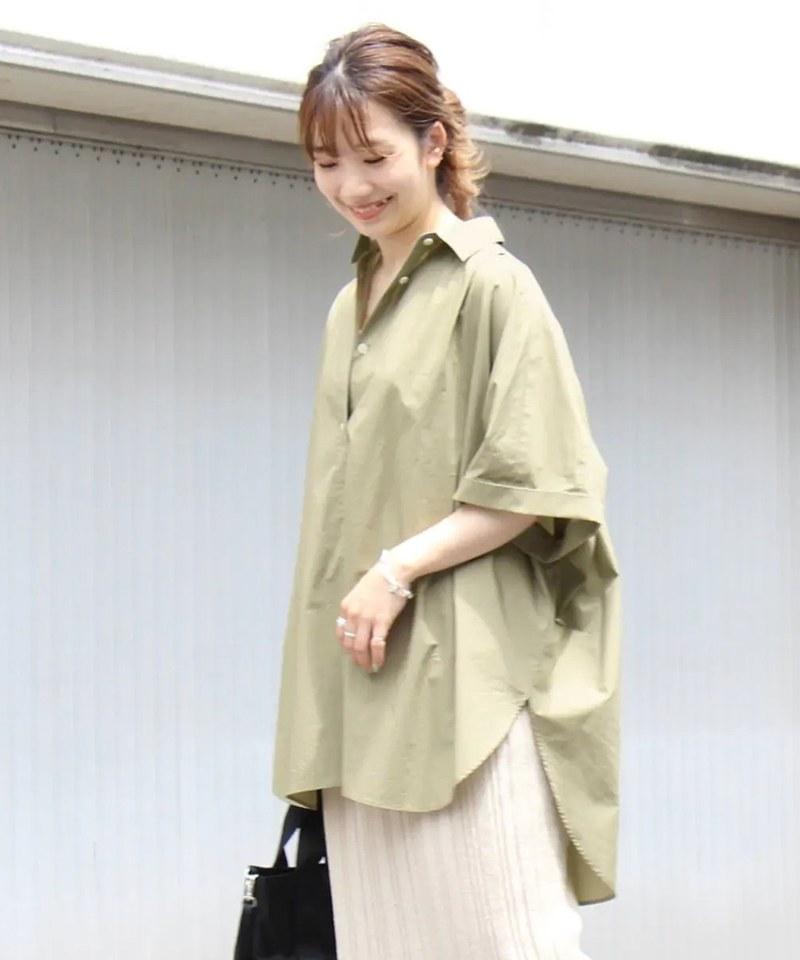 JSDW0203 高密度平織斗篷風襯衫