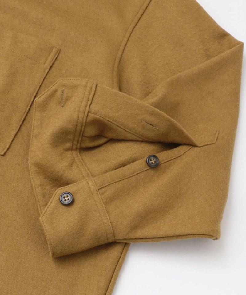 KBF4118 起毛長版襯衫洋裝