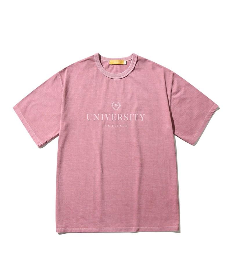 純棉短TEE Univ. Pigment