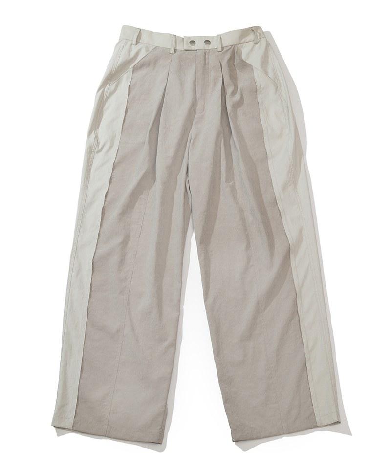 PLT9947 拼布休閒長褲 FRAYED RAW SPLICED PANTS