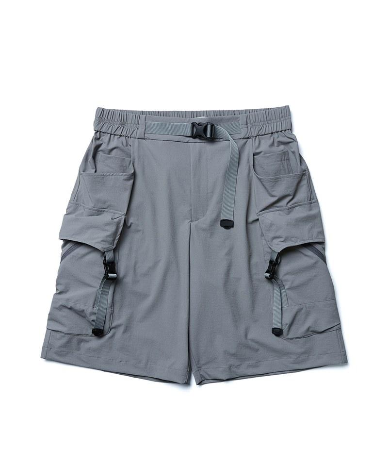 Twill Buckle-Pockets Shorts 斜紋插扣短褲
