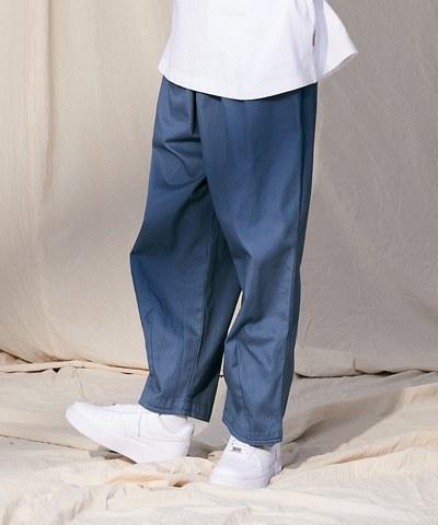 斜紋棉質氣球寬褲