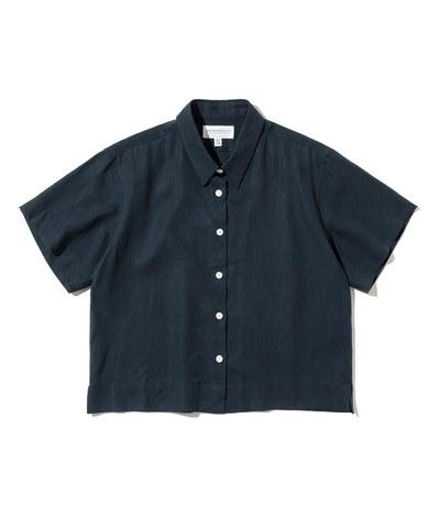 女款亞麻短袖襯衫 linen standard short shirts