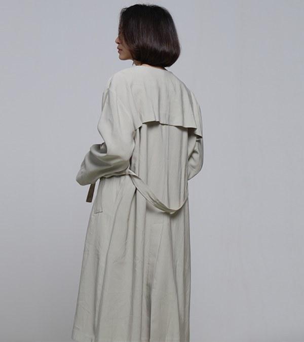 COP1195 垂墜感長版大衣
