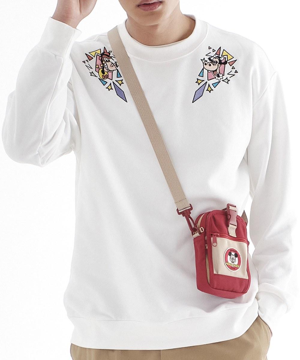 CRV0030 Mickey 幾何刺繡衛衣