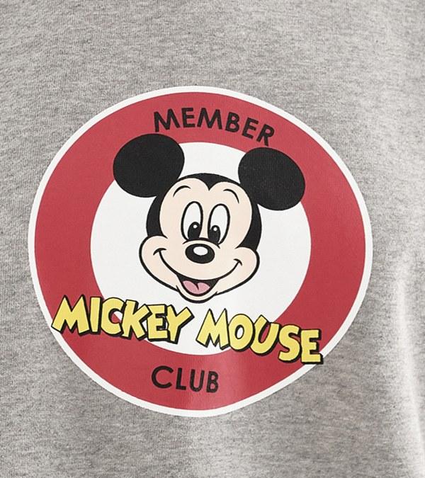 CRV0031W Mickey 女款俱樂部短版衛衣