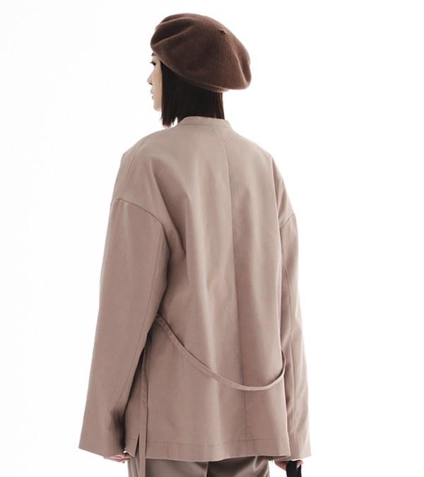CRV1112 陳艾琳聯名無領綁帶西裝外套