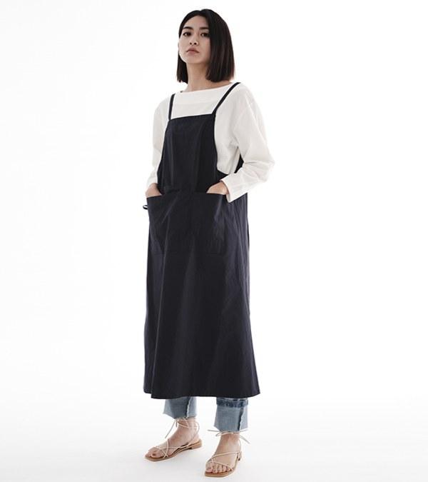 CRV3900 陳艾琳聯名棉混紡雙穿圍裙