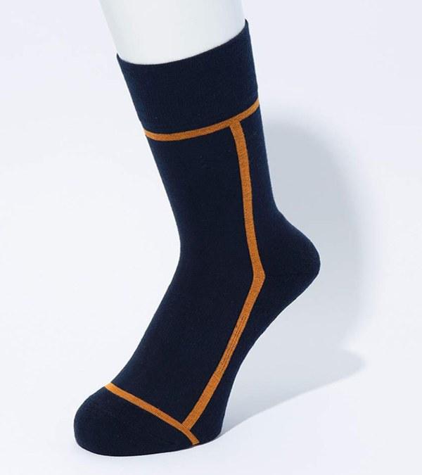 CST3901 LINE SOCKS 日本製配色長襪