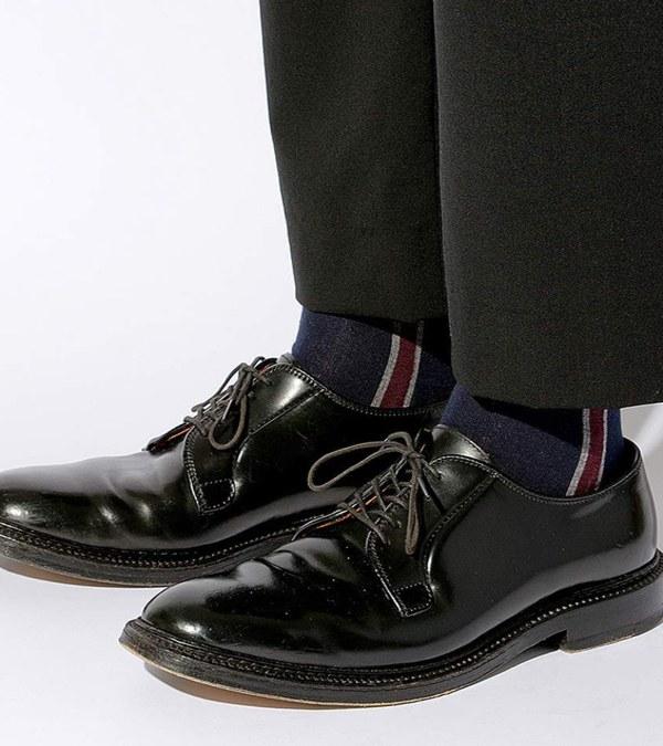 CST3904 CLUB STRIPE SOCKS 日本製配色長襪