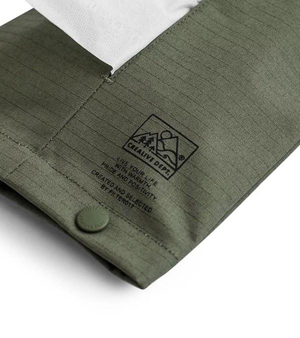 FLT3903 CREALIVE DEPT. Mountain Peak Logo Ripstop Hanging Tissue Cover 山峰標誌防撕布掛式面紙套