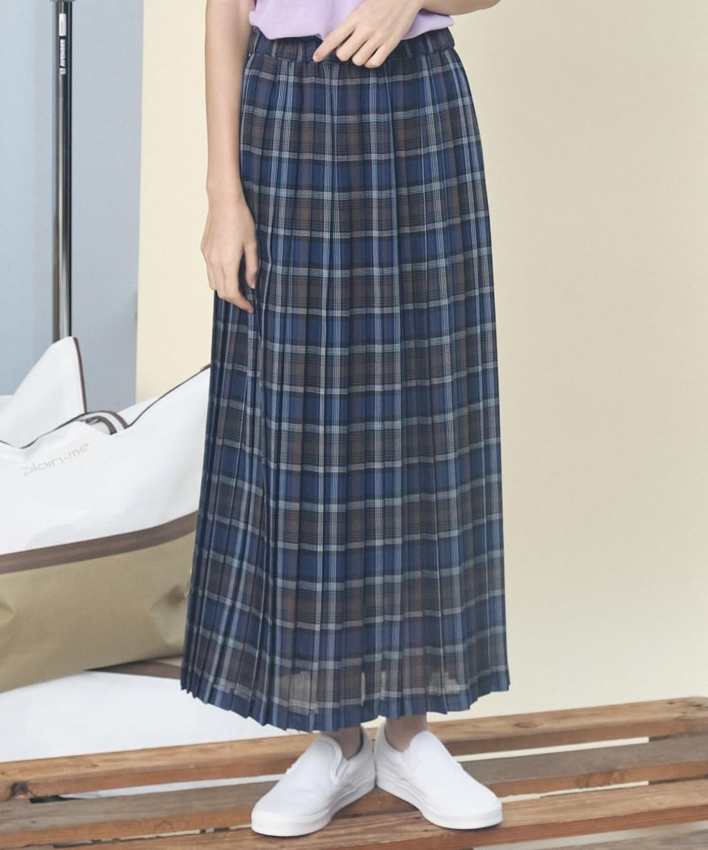 JSD4015 格紋百褶長裙