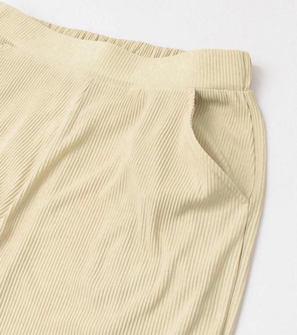 KBF1613 細百褶長褲