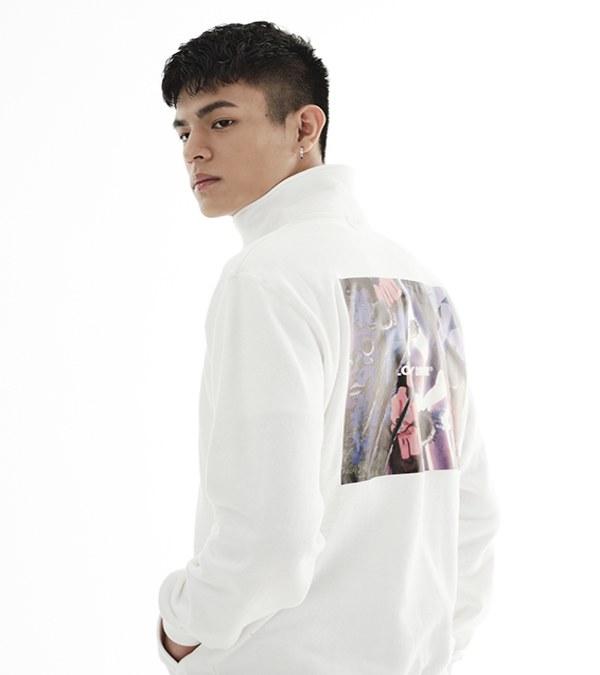 LNY0121 BOXISM HALF ZIP 高領圖案衛衣