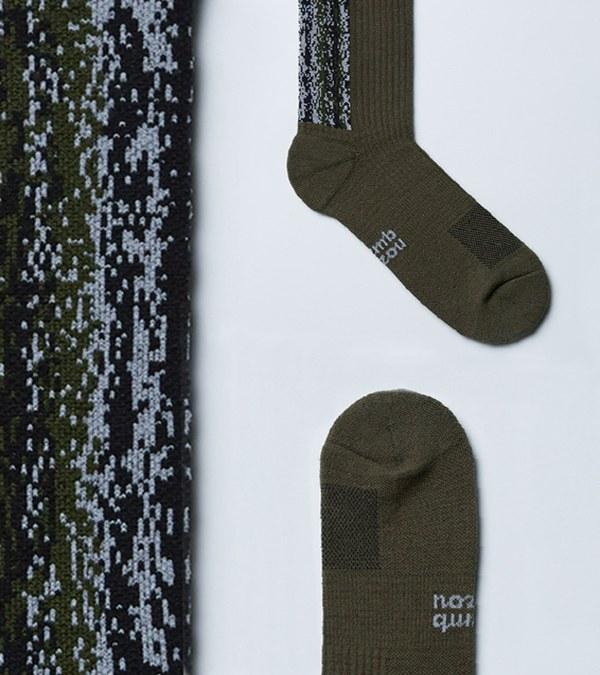 NZQ2908 LANDING W 中高筒休閒襪