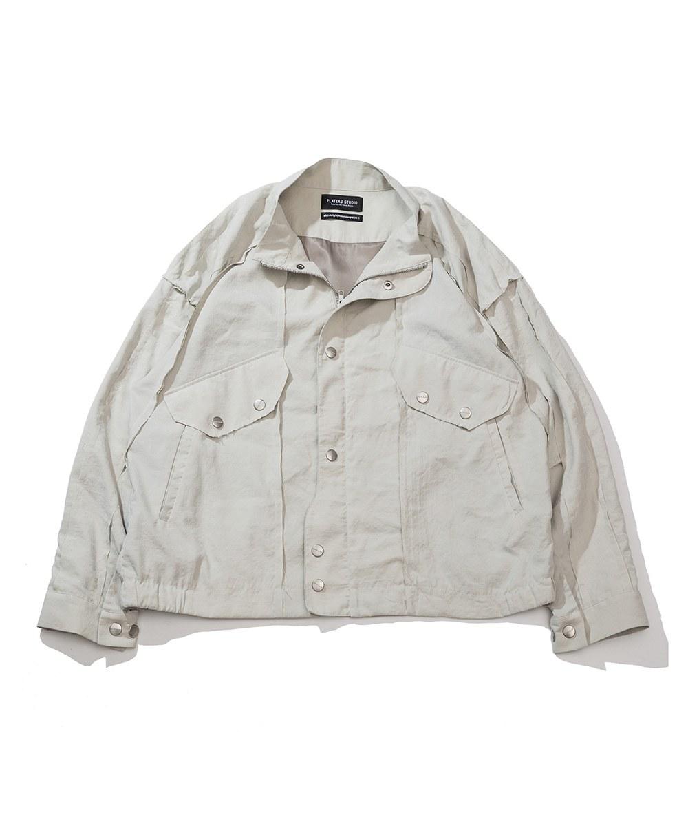 PLT9938 BUTTON JACKET 鬆身防潑水夾克