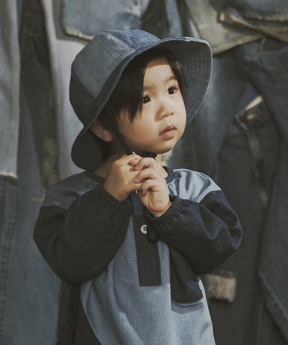 SYN2307 SYNDRO x plain-me FUNNY SUNNY DAY DENIM BUCKET HAT 漁夫帽 (兒童款)